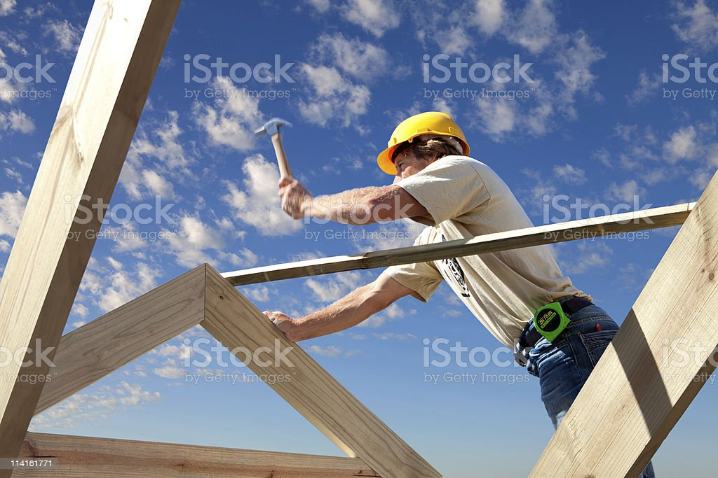 roofer royalty-free stock photo