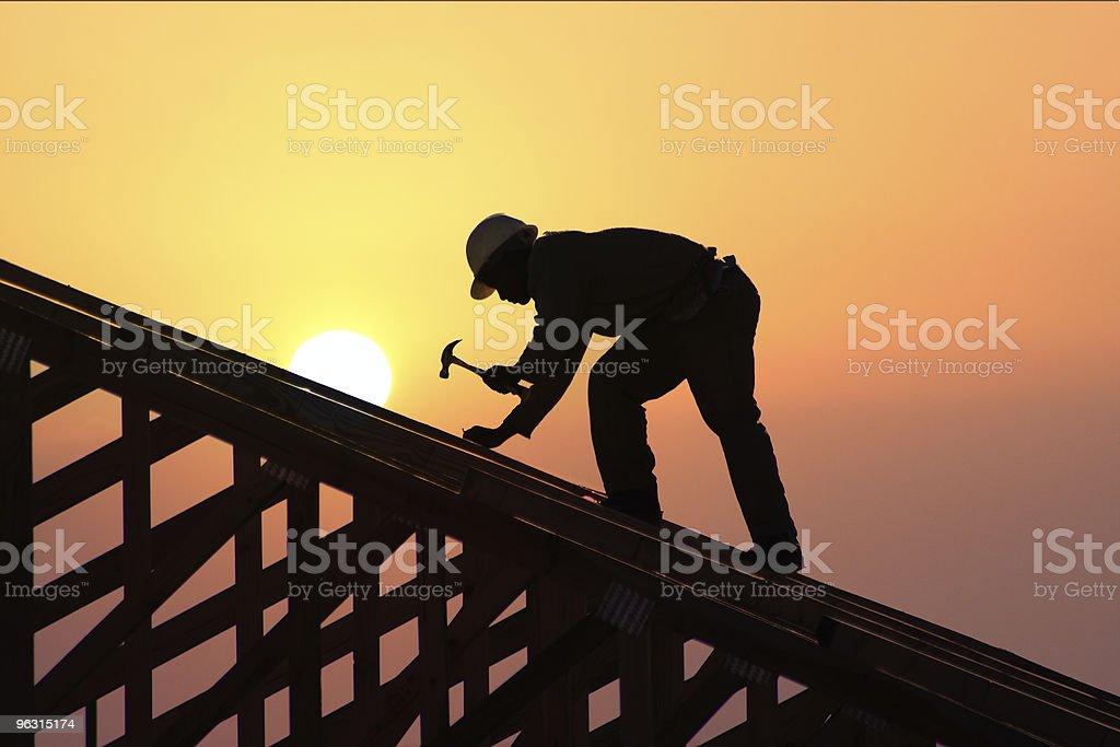 roofer  Carpenter Stock Photo