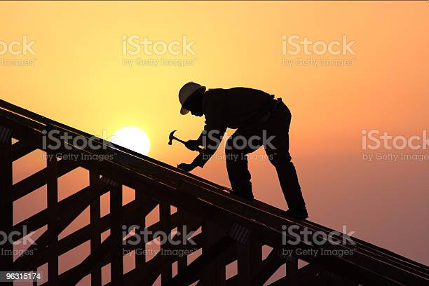 Roofer Stock Photo - Download Image Now