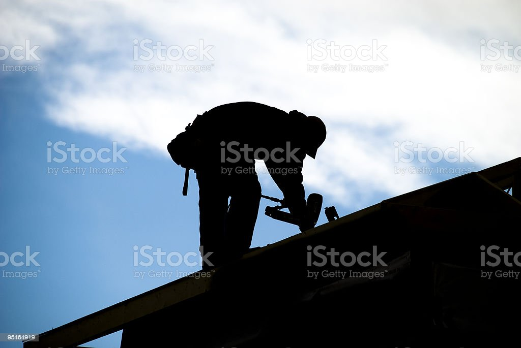 Roofer Silhouette stock photo