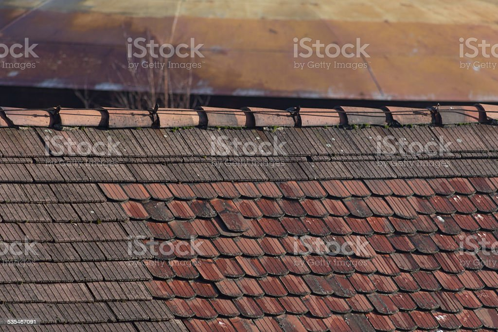 dachfuerst altes haus stock photo