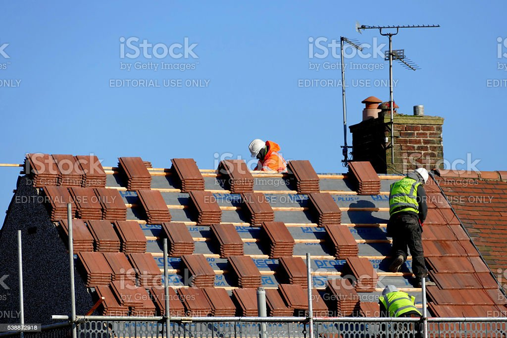 Roofing. stock photo