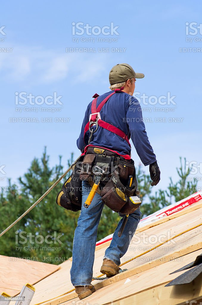 Roofing Safety Equipment stock photo