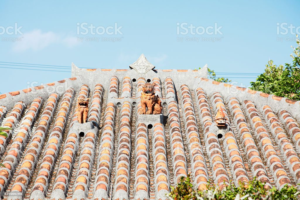 roofing tile of the house stock photo