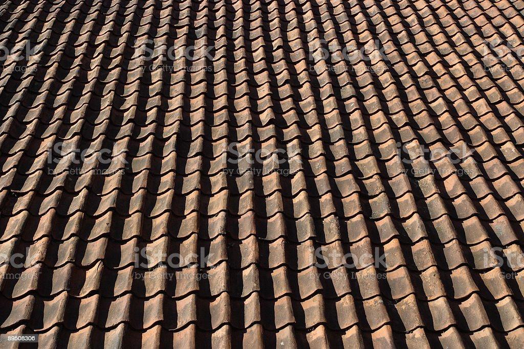 Carrelage toit. photo libre de droits