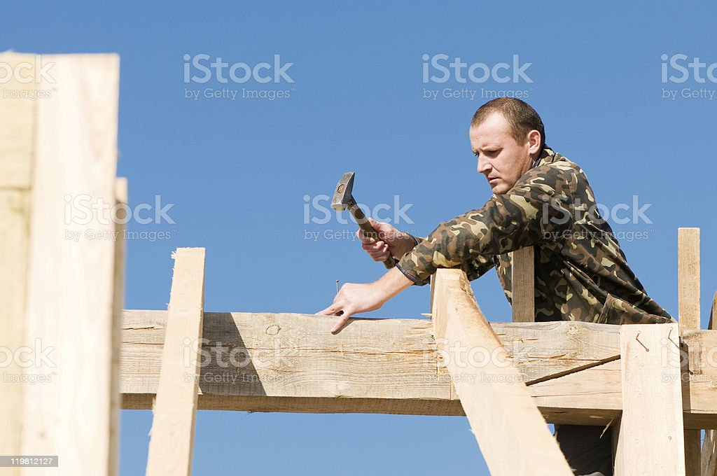 roofing works royalty-free stock photo