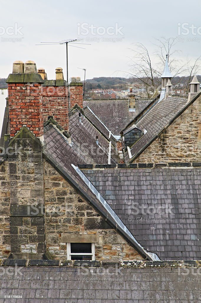 Roofs and Chimneys stock photo