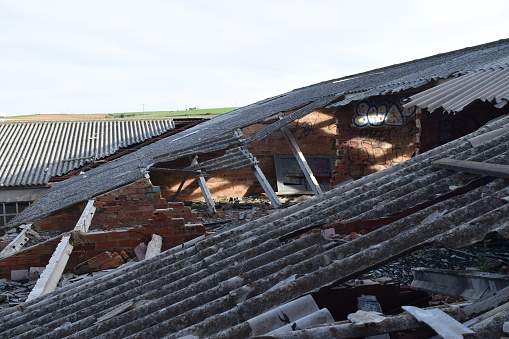 Roofs collapsed.