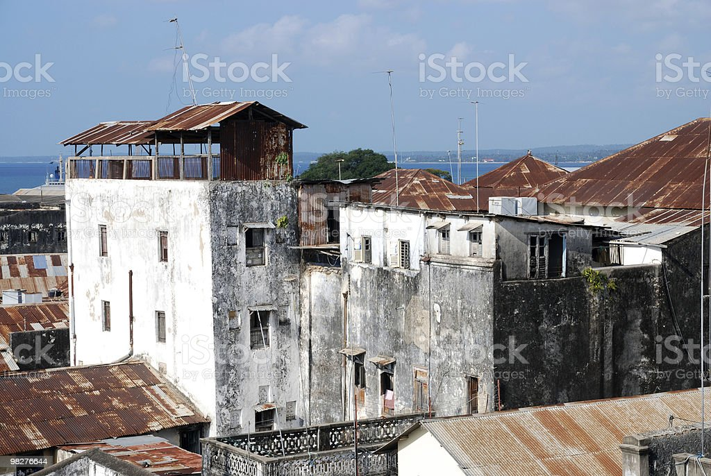 Roofs from Zanzibar, Tanzania, East Africa royalty-free stock photo