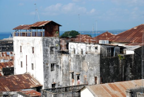 Roofs From Zanzibar Tanzania East Africa Stock Photo & More Pictures of Above