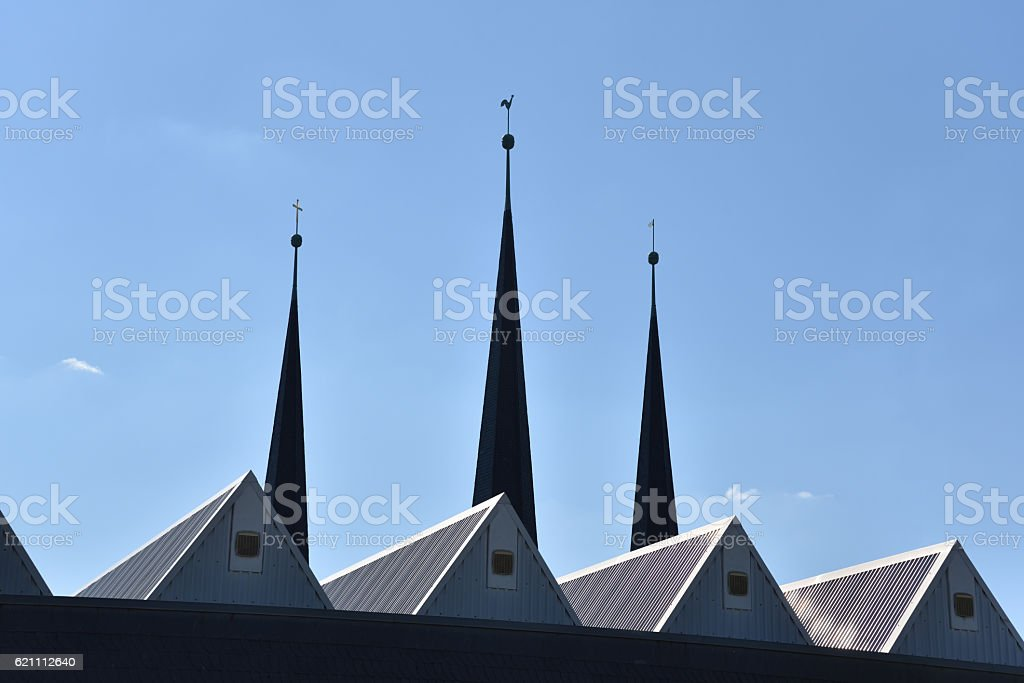 roofs in Bayreuth stock photo