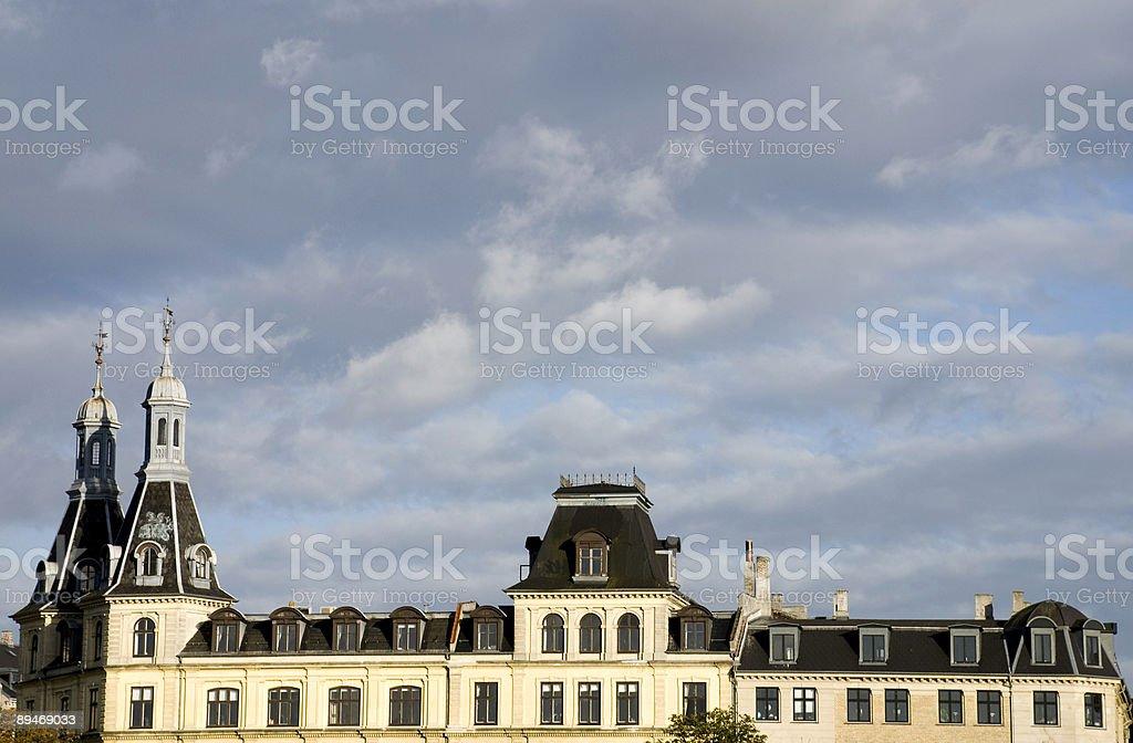 Roofs in Copenhagen royalty-free stock photo