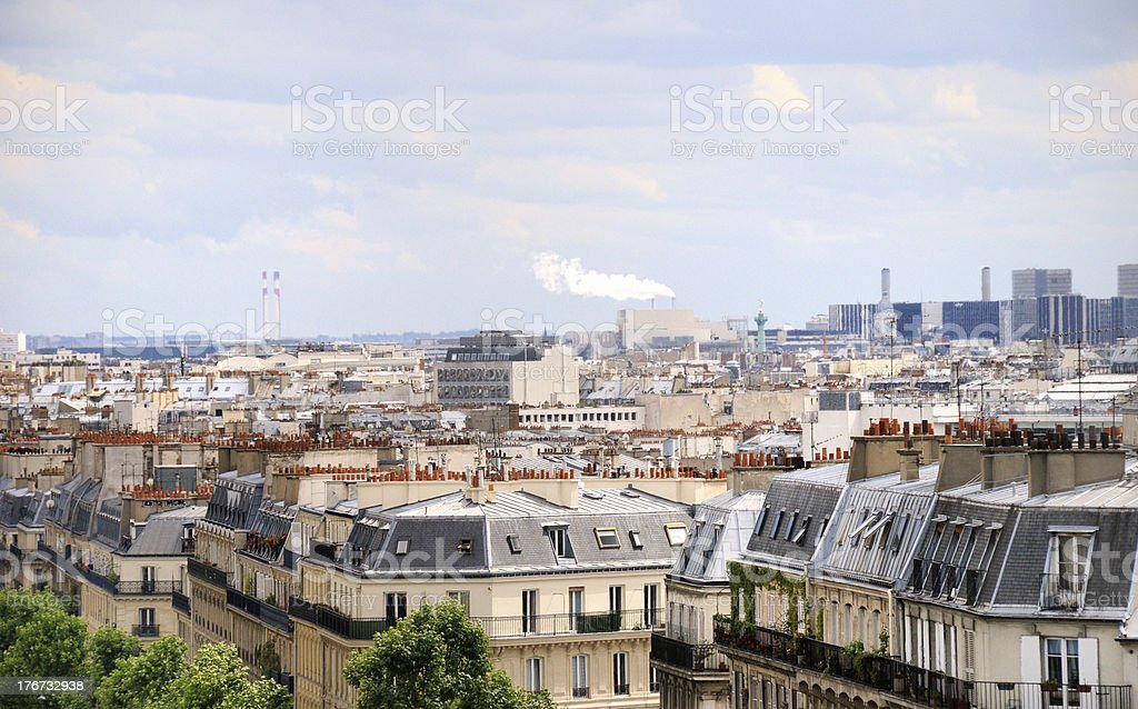 roofs in Paris royalty-free stock photo