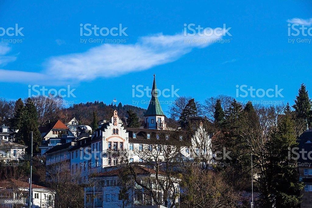 Roofs of Baden-Baden stock photo