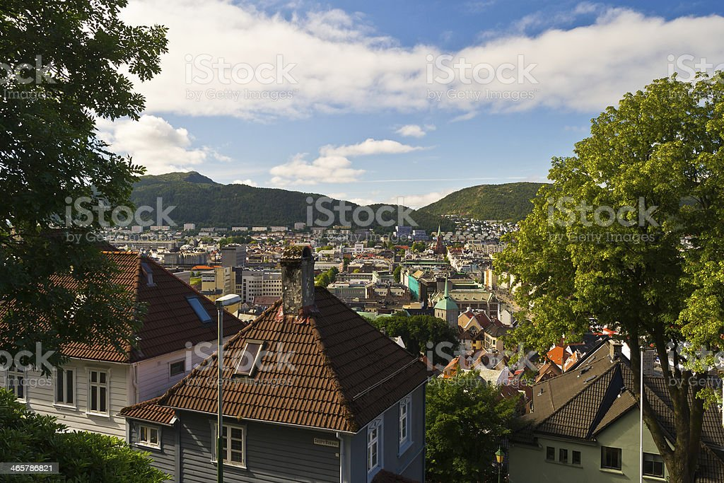 Roofs of Bergen royalty-free stock photo