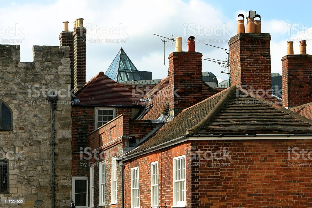 Roofs of England royalty-free stock photo