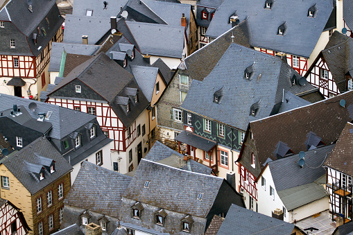 Roofs of houses in Beilstein, Germany.