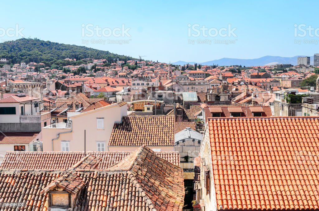 Roofs of houses in the old town. royalty-free stock photo