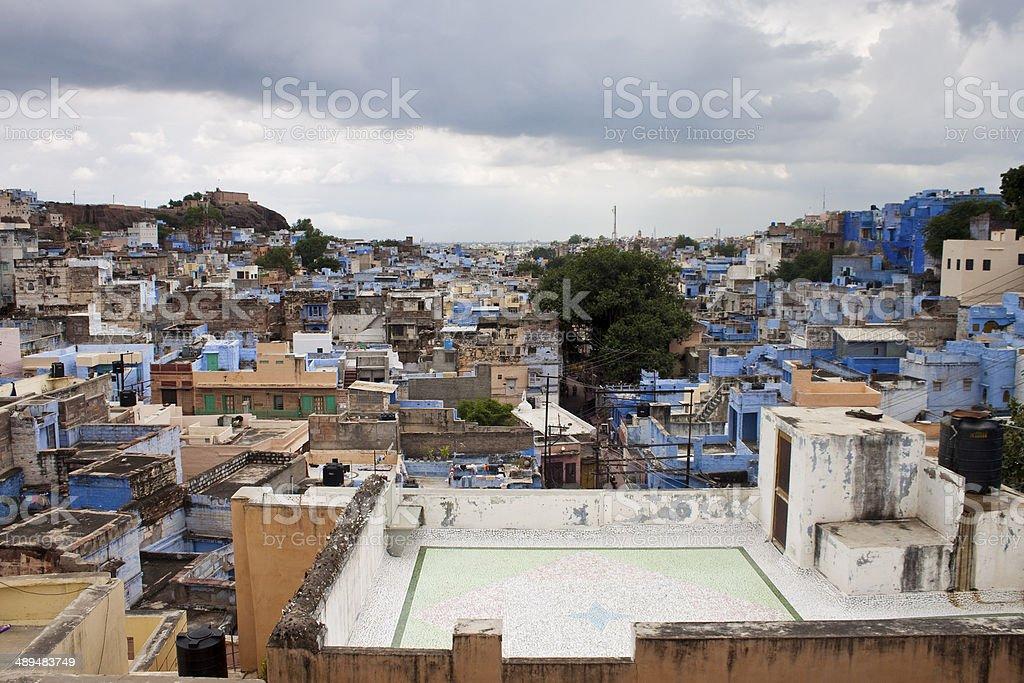 Roofs of Jodhpur stock photo