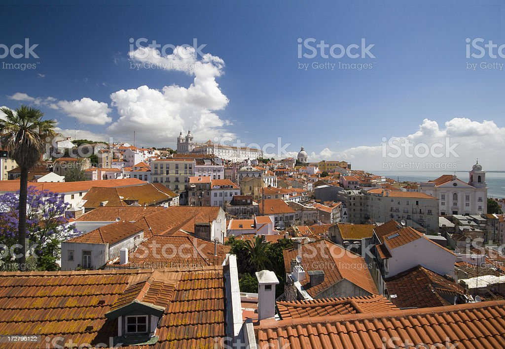 Roofs of Lisbon royalty-free stock photo