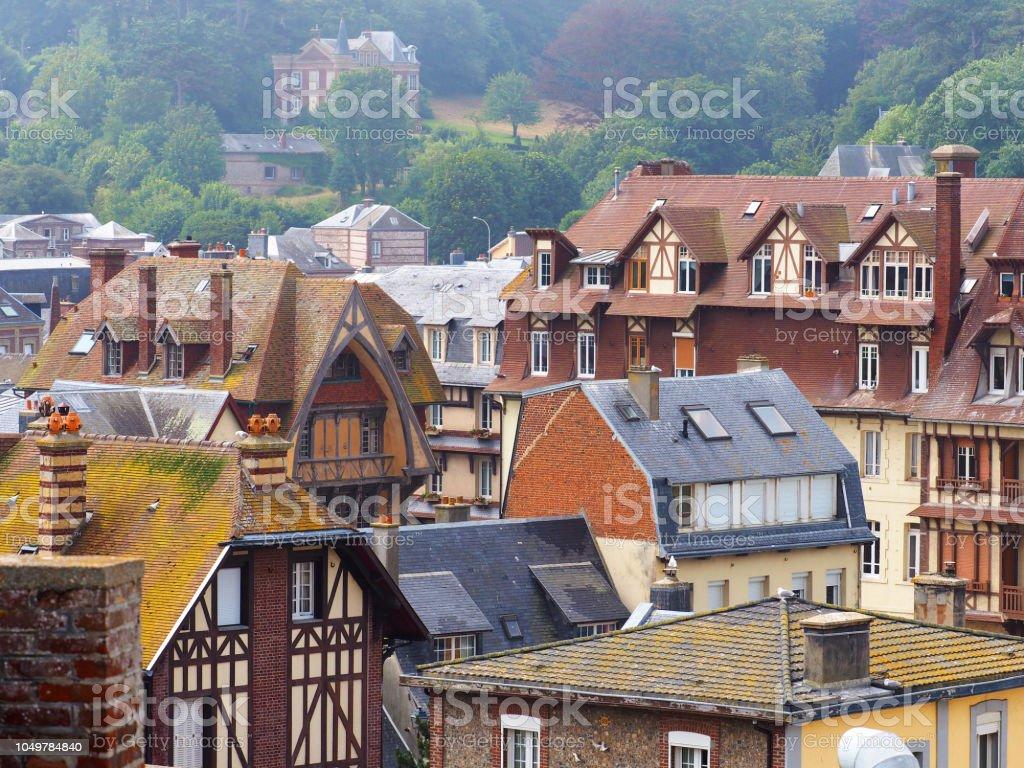 Maison Toit De France photo libre de droit de toits de maisons médiévales journée