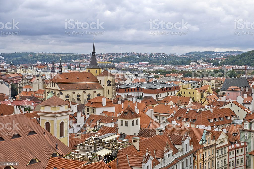 Roofs of Old Prague royalty-free stock photo