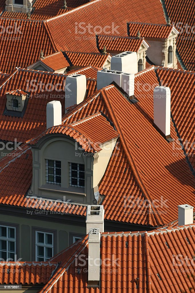 Roofs of Old town royalty-free stock photo