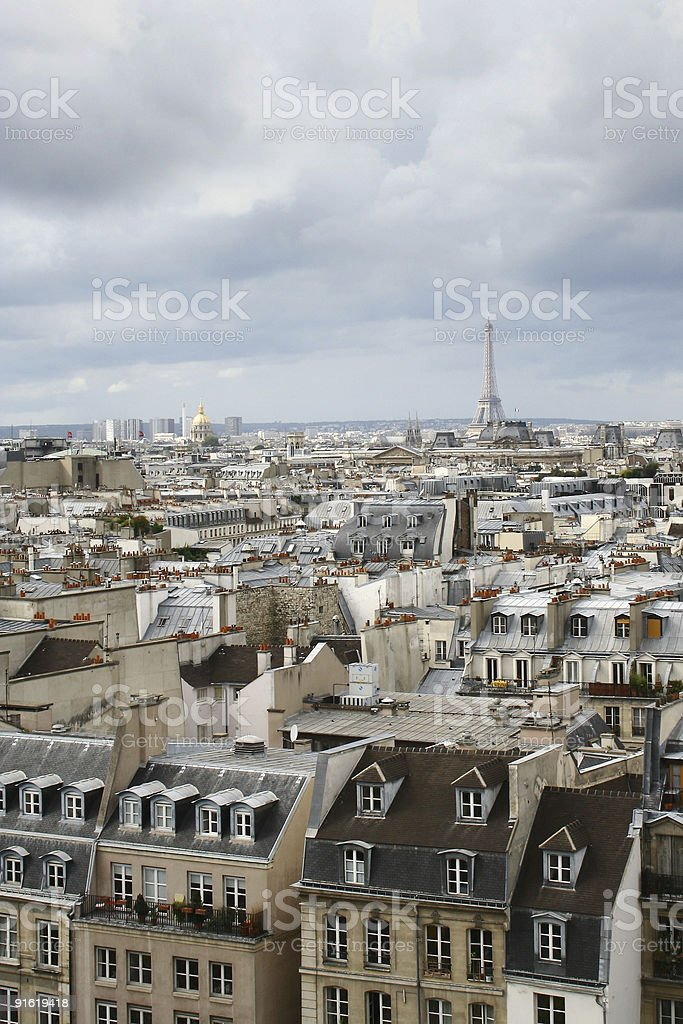 Roofs of Paris royalty-free stock photo
