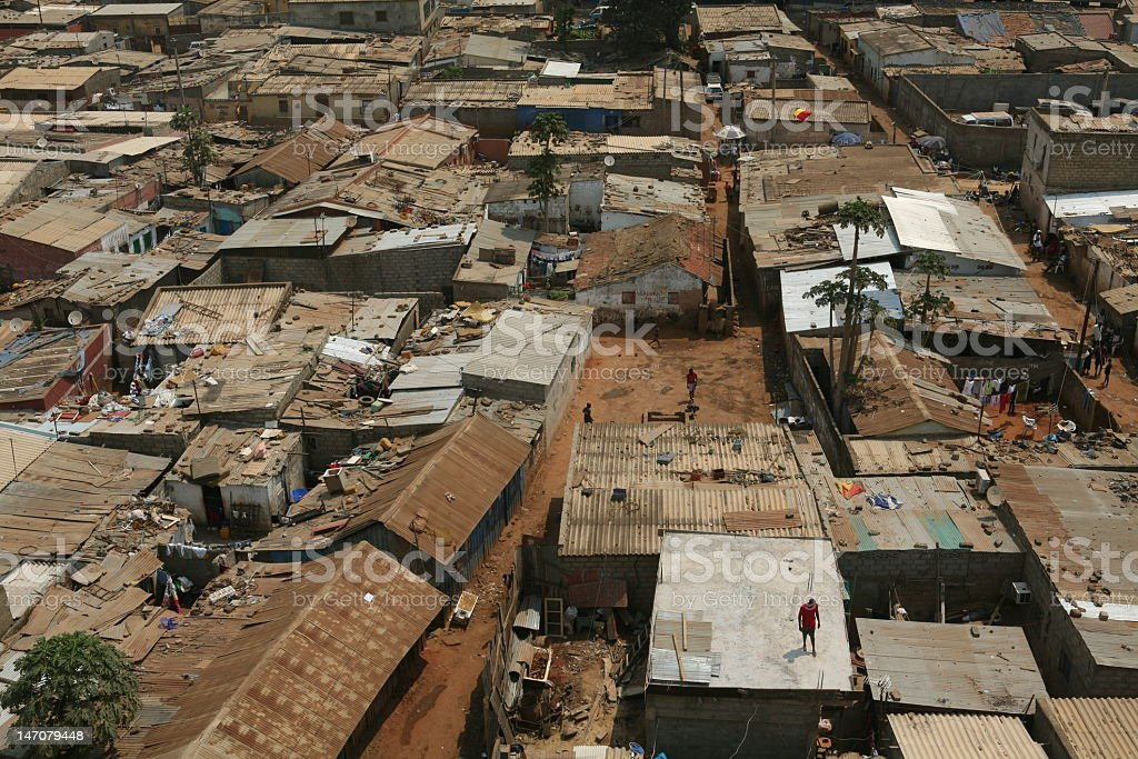 Roofs of poverty stock photo