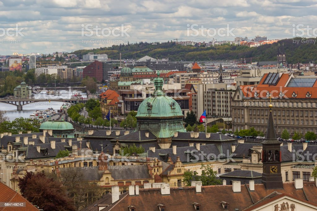 Roofs of Prague foto stock royalty-free