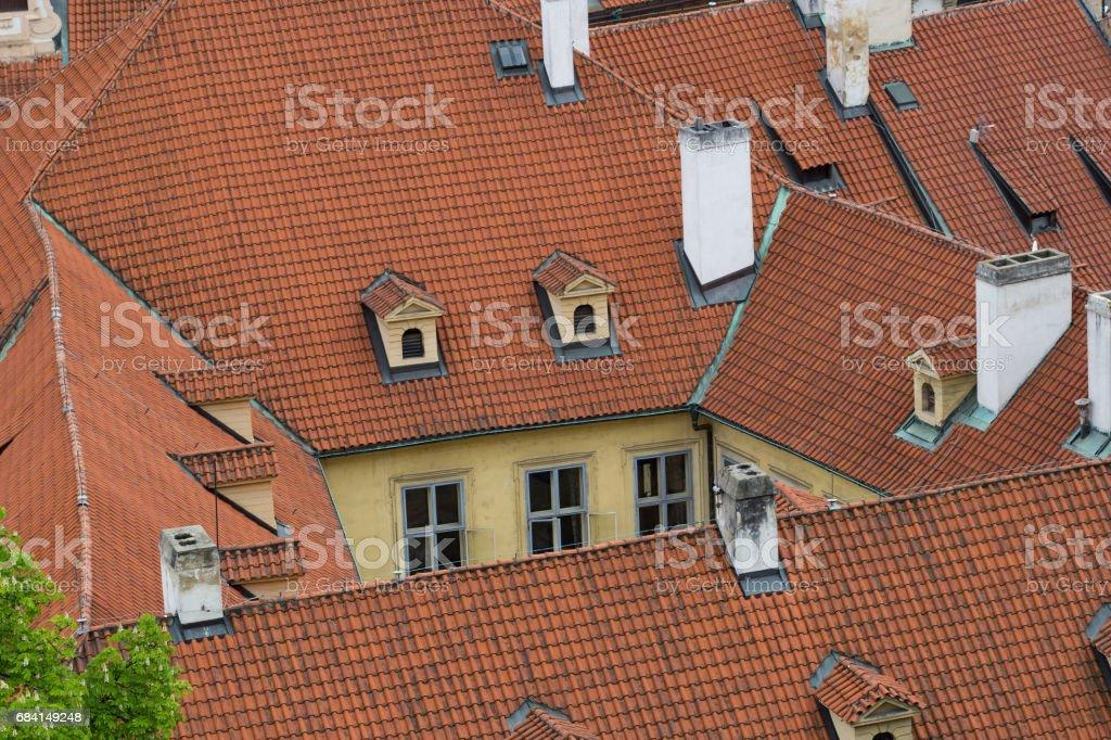 屋根のプラハ ロイヤリティフリーストックフォト
