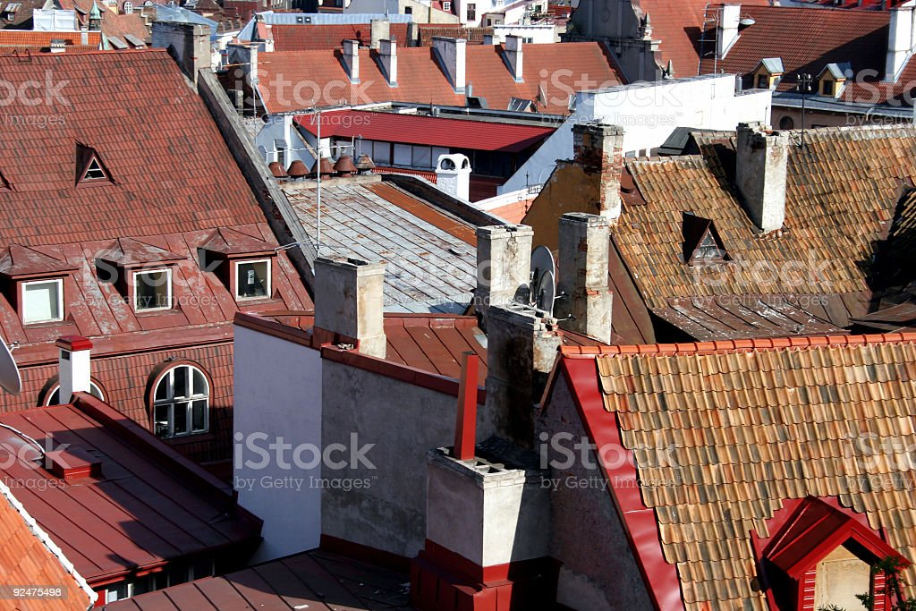 roofs of tallinn oldtown royalty-free stock photo