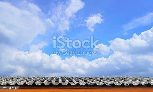 The Roof-Tile and Cloudy Blue Sky.