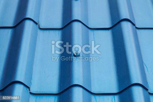 Details of blue roof-tile.