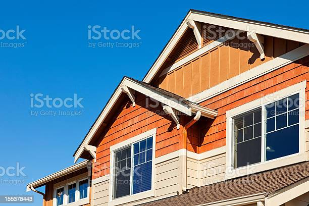 Rooftop Against Clear Blue Sky Stock Photo - Download Image Now