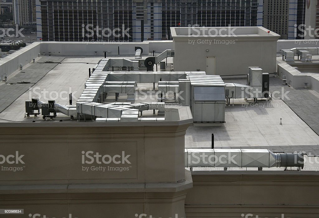Rooftop Air Handling Equipment stock photo