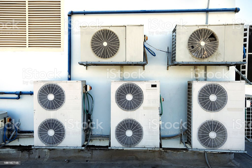 Rooftop Air Handling Units stock photo
