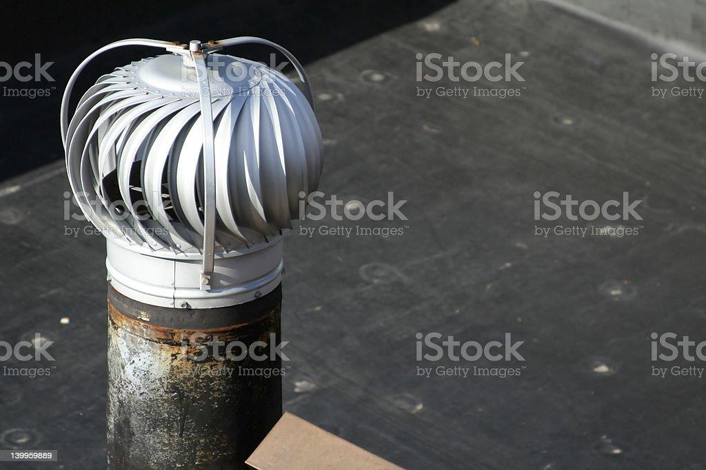 Rooftop Air Turbine stock photo