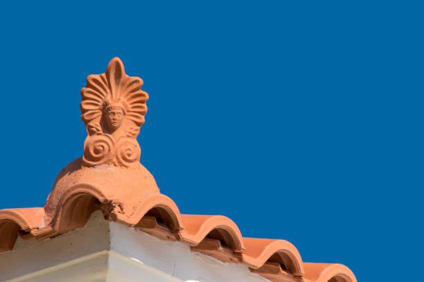 Rooftop antefix stock photo