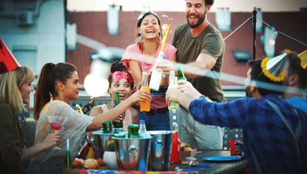 Dach-Geburtstags-Party. – Foto