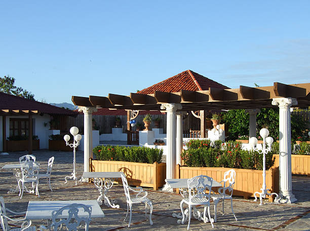 rooftop café - belkindesign stock pictures, royalty-free photos & images