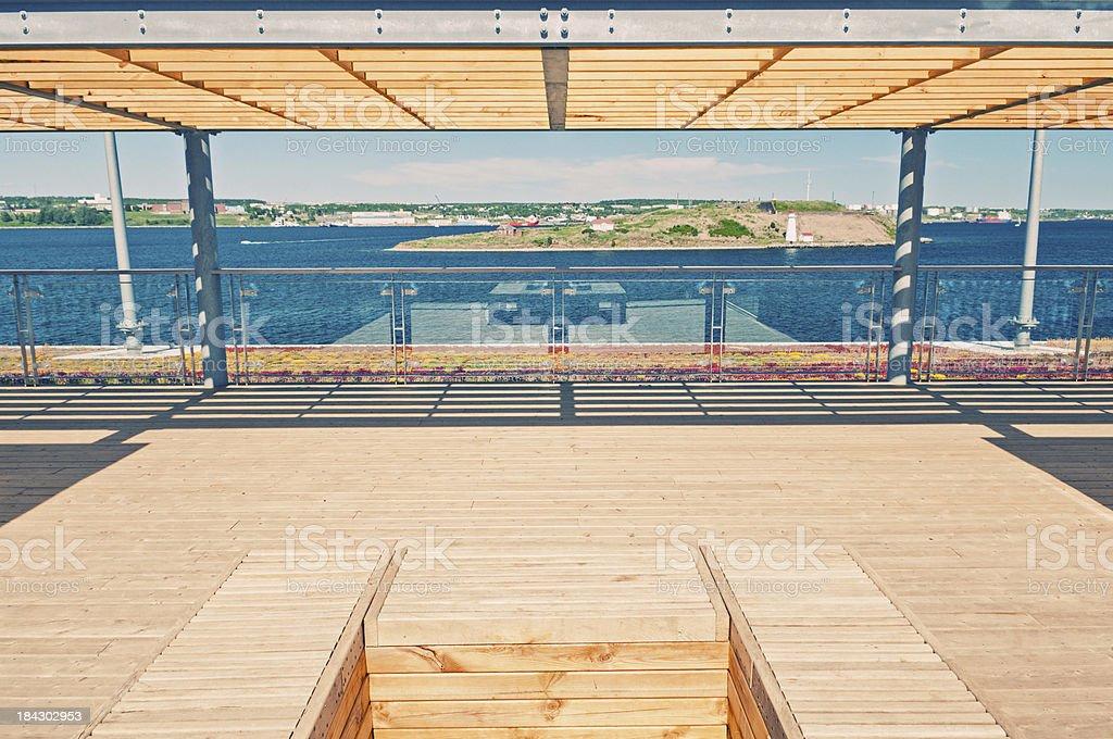 Rooftop Deck stock photo