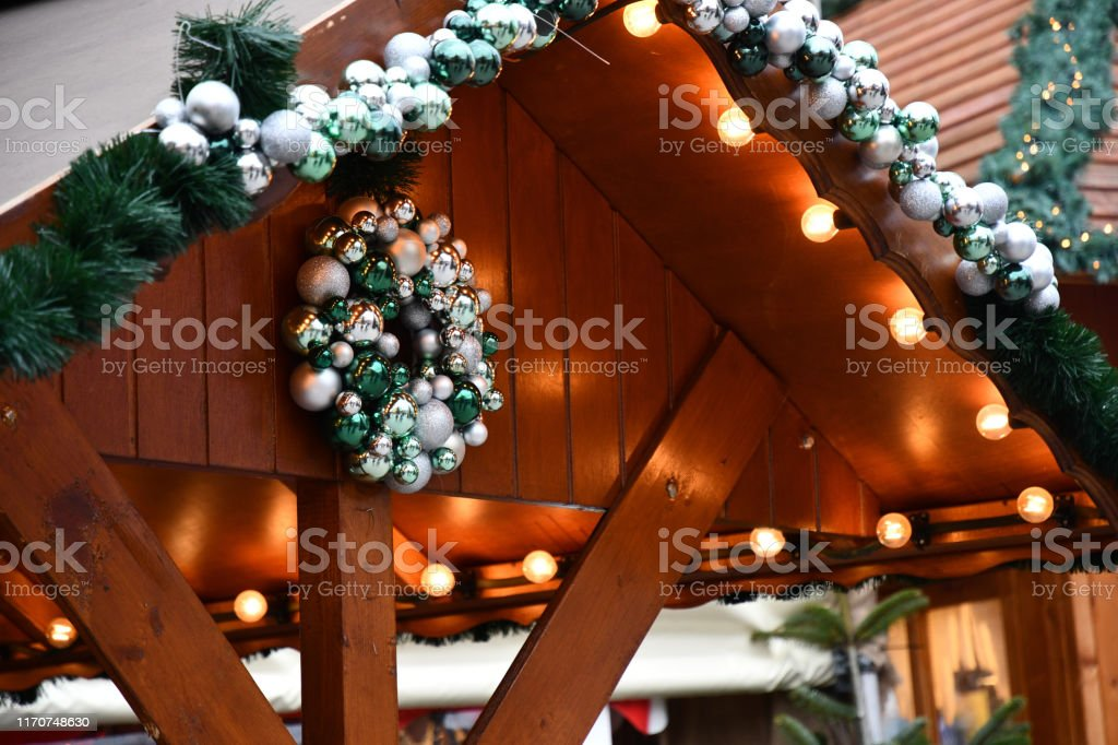 Winter holiday backgrounds. New Year illuminations. Christmas...