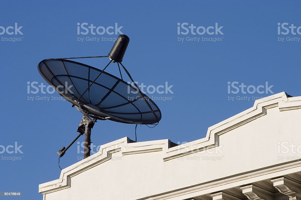 Rooftop Dish royalty-free stock photo