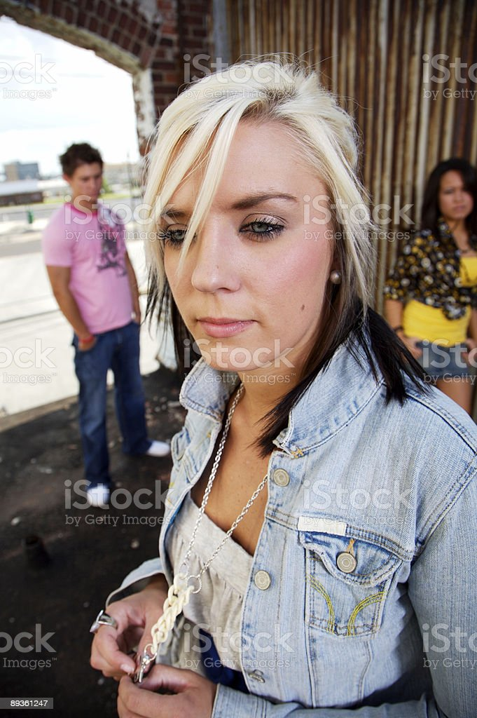 rooftop grunge young adult portraits royalty free stockfoto
