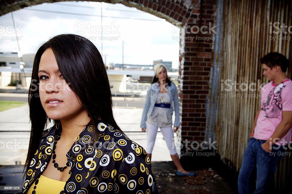 rooftop grunge young adult portraits royaltyfri bildbanksbilder