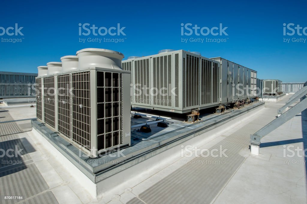 Rooftop HVAC stock photo