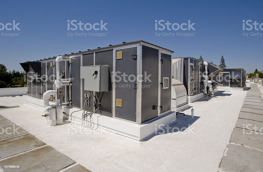 Rooftop HVAC System, Enclosed royalty-free stock photo