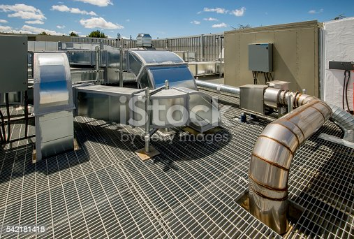 Hvac installation for a large research facility.