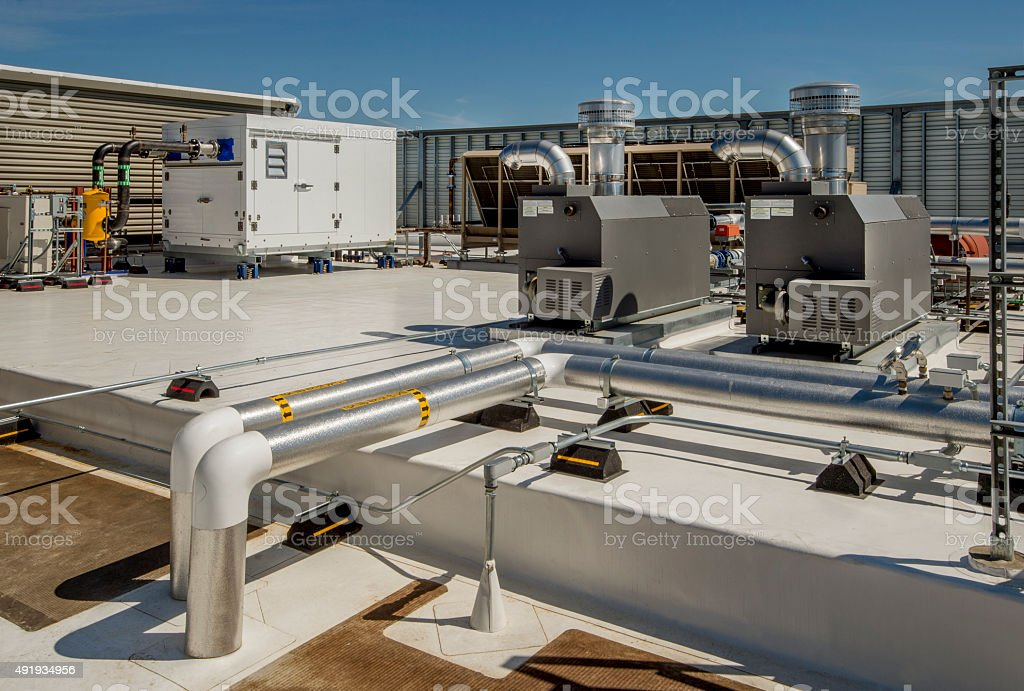 Rooftop Hvac With Boilers stock photo 491934956 | iStock